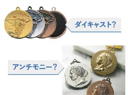 ダイキャストメダル・アンチモニーメダル