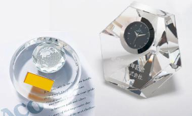 クリスタルガラス製、メモリアル・記念品