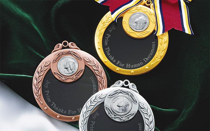クリスタルガラス製、既製品クリスタルメダル