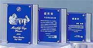 セミオーダーガラス製楯 W-SHL-7400